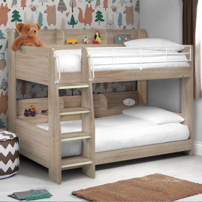 Happy Beds Domino Wood Kids Storage Bunk Bed
