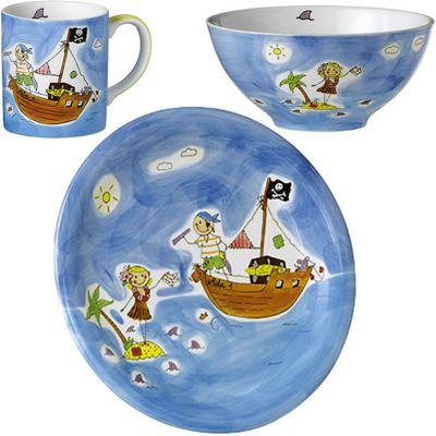 Children's Ceramic Dinner Set - Pirate of Love | Children's Gifts