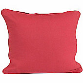 Homescapes Cotton Plain Red Scatter Cushion, 30 x 30 cm