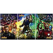 The Avengers Infinity War Captain America, Iron Man & Thanos Poster Bundle