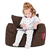 Lounge Pug® Toddlers Armchair Bean Bag - Cord Mocha Brown