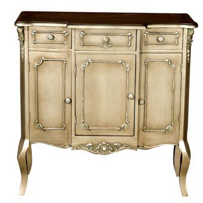 Alterton Furniture Chartrettes Breakfront Dresser in Antiqued Silver