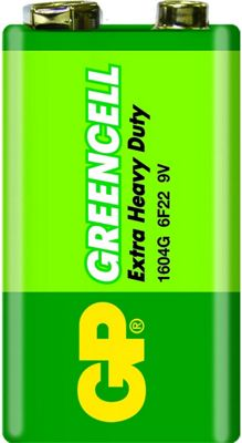 GP Batteries Greencell 9V Zinc Chloride non-rechargeable battery