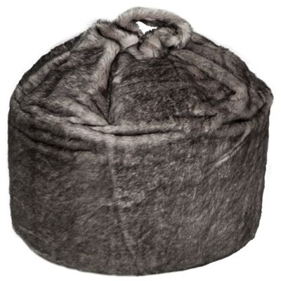 buy kaikoo faux fur bean bag black from our pouffes bean. Black Bedroom Furniture Sets. Home Design Ideas