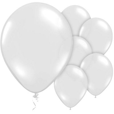 Crystal Clear 12 inch Latex Balloons - 10 Pack