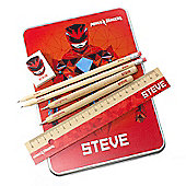 Power Rangers Movie Personalised Red Ranger Stationery Set