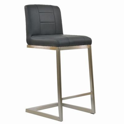 Monteray Brushed Steel Bar Stool Dark Grey