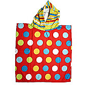 Kids Hooded Beach Bath 'Rainbow Dots' Poncho Pal