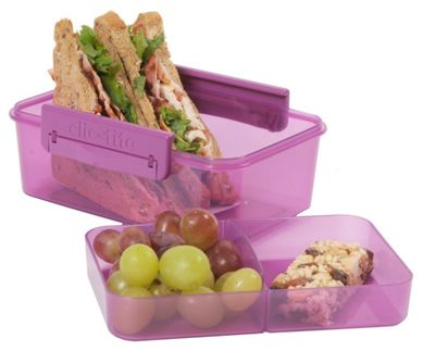 Clic-Tite Double Decker Compartment Lunch Box
