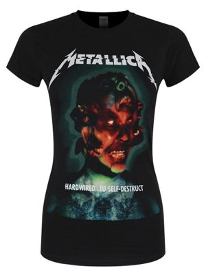Metallica Hardwired Album Women's T-shirt, Black.