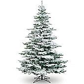 7ft Medium Flocked Noble Artificial Christmas Tree