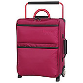 IT Luggage World's Lightest 2 wheel Small Persian Red Suitcase