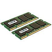 Crucial 8GB Memory Kit (2x4GB) PC2-6400 800MHz DDR2 Unbuffered Non-ECC CL6 200-pin SO-DIMM
