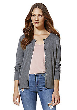 F&F Crew Neck Cardigan with As New Technology - Grey
