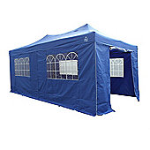 All Seasons Gazebos, Heavy Duty, Fully Waterproof, 3m x 6m Superior Pop up Gazebo Package in Royal Blue