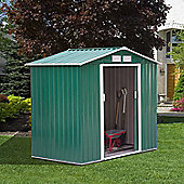 Outsunny Lockable Garden Shed (6 x 4FT, Green)