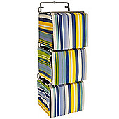 Stripe - Contemporary Wall Mounted Canvas 66 Cd Storage Boxes