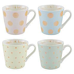 Gold Spot Pastel Mugs 4pk