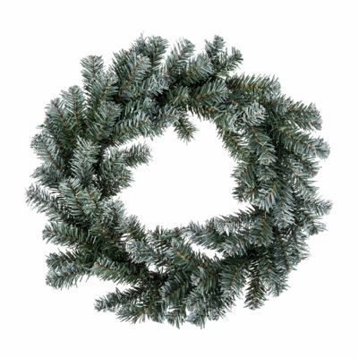 Homescapes Frosted Effect Large Artificial Christmas Wreath, 18 Inch