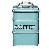 Living Nostalgia Vintage Coffee Storage Tin, Blue