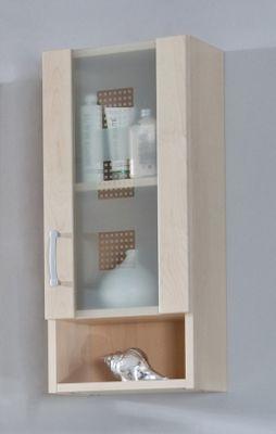 Posseik Nizas 68 x 30cm Upper Wall Cabinet - High Gloss White - Grey