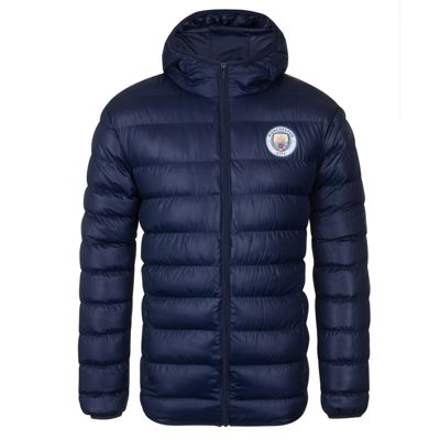 Manchester City FC Mens Quilted Jacket Medium