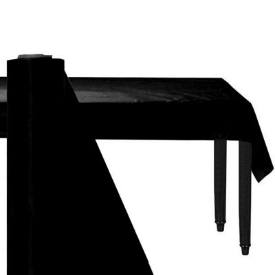 Black Jumbo Table Roll - 76cm Plastic
