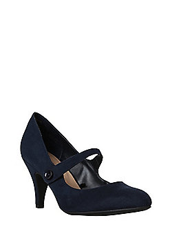 F&F Sensitive Sole Mary Jane Shoes - Navy
