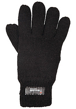 Mountain Warehouse Kids Knitted Thinsulate Thermal Gloves - Black