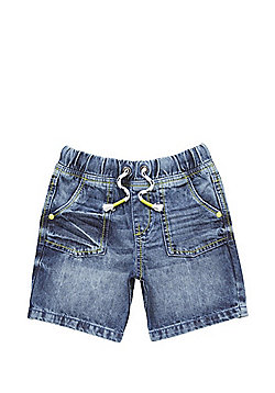 F&F Drawstring Denim Shorts - Blue