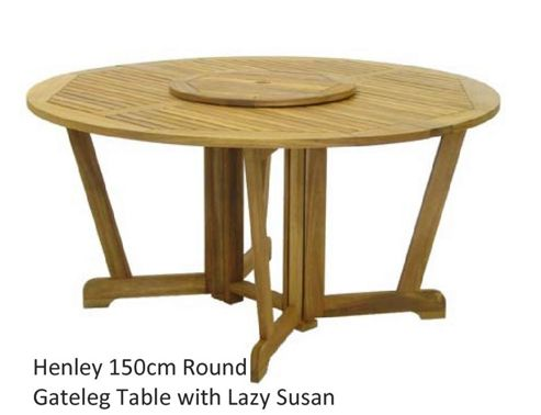 Royal Craft Henley 150cm Round Table with Lazy Susan
