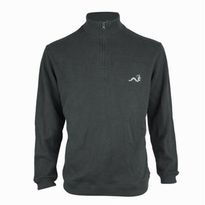 Woodworm Golf Half Zip Sweater Grey 4Xl
