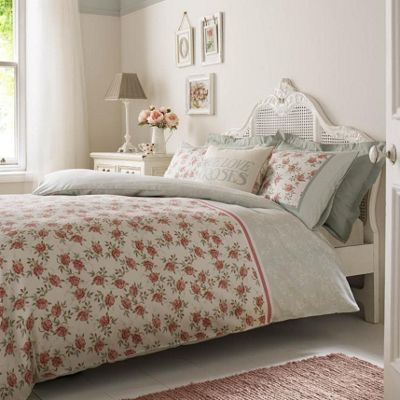 Emma Bridgewater 'Striped Rose' Floral Reversible Duvet Cover Set, Single