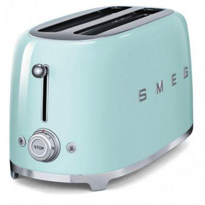 Smeg TSF02PGUK | 50's Retro Style 4 Slice Toaster in Pastel Green