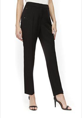 Wallis Petite Tapered Black Trousers Black 18