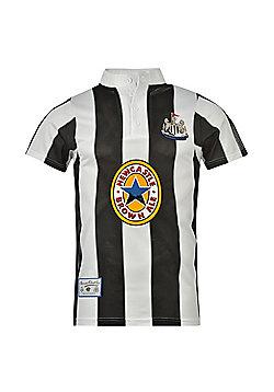 Newcastle United FC Mens 1996 Retro Shirt - Black