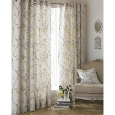 Riva Home Rosemoor Natural Eyelet Curtains - 46x54 Inches (117x137cm)