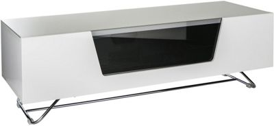 Alphason Chromium White TV Stand for up to 60 inch TVs