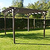 Garden Pergola 3.0m x 3.0m - Sculpted Rafter End