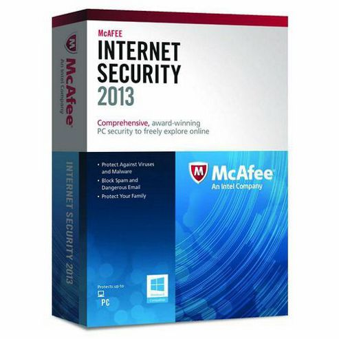 MCAFEE - BOXED MCAFEE - INTERNET SECURITY 2013 - 1 USER EN