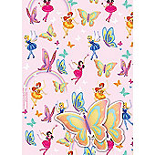 Gem Fairies 2 Wrapping Paper Sheets & 2 Gift Tags Pack