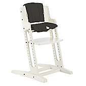 BabyDan DanChair High Chair White With Black Cushion