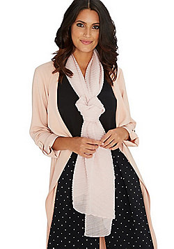 F&F Sparkle Pleated Scarf - Pink