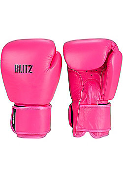 Blitz - Standard Leather Boxing Gloves - Neon pink