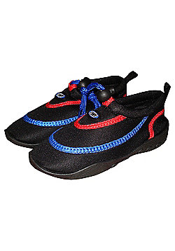 TWF Wetshoes Black/Red/Blue UK size 2/ EU 34