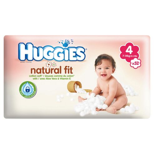 Huggies Natural Fit Size 4 Economy 48
