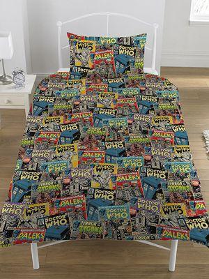 Doctor Who Comics Single Duvet Cover and Pillowcase Set