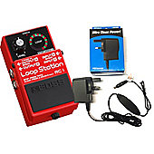Boss RC-1 Loop Station - Guitar Loop Pedal Inc Boss PSA230ES2 Power Supply