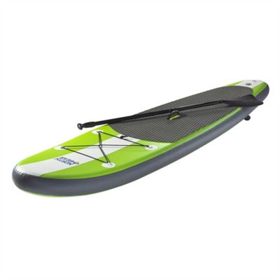 North Gear 10Ft Inflatable Sup Stand Up Paddle Board Package - White/Lime Green