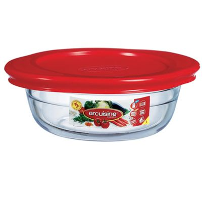 O Cuisine Round Dish with Lid